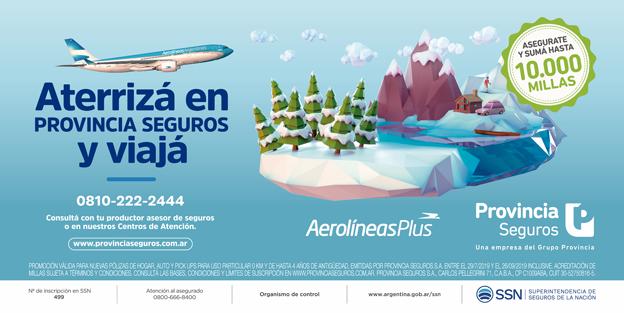 Provincia Seguros lanza su nueva campaña publicitaria junto a Aerolíneas Argentinas