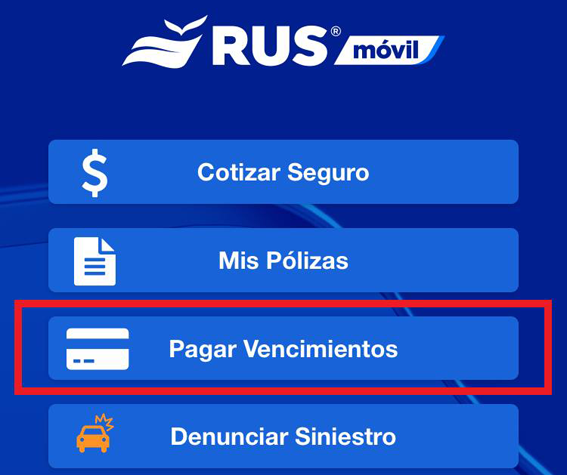 RUS presenta su botón de pago en su App RUS Móvil