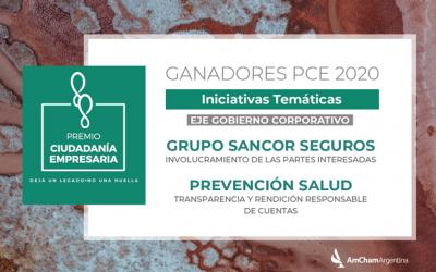 Grupo Sancor Seguros y Prevención Salud recibieron el Premio Ciudadanía Empresaria 2020 de AmCham
