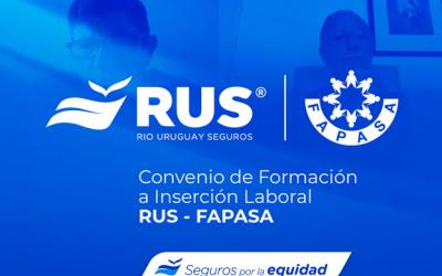 RUS firmó un convenio con FAPASA para que diferentes colectivos sociales se conviertan en productores de seguros