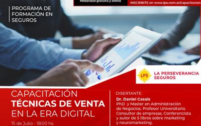 """Programa de Formación en Seguros. La Perseverancia Seguros llevará a cabo un taller de """"Técnicas de ventas en la era digital"""""""